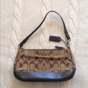 Coach Small Logo Zip Top Leather Purse